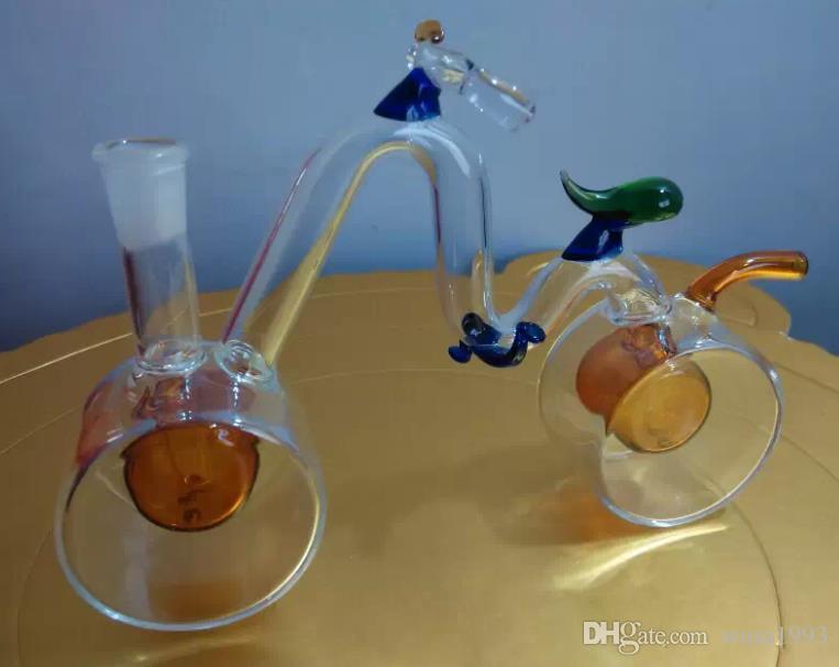 Bicicleta Hookah, tubos de vidrio al por mayor, botellas de agua de vidrio, accesorios para fumar, entrega gratuita