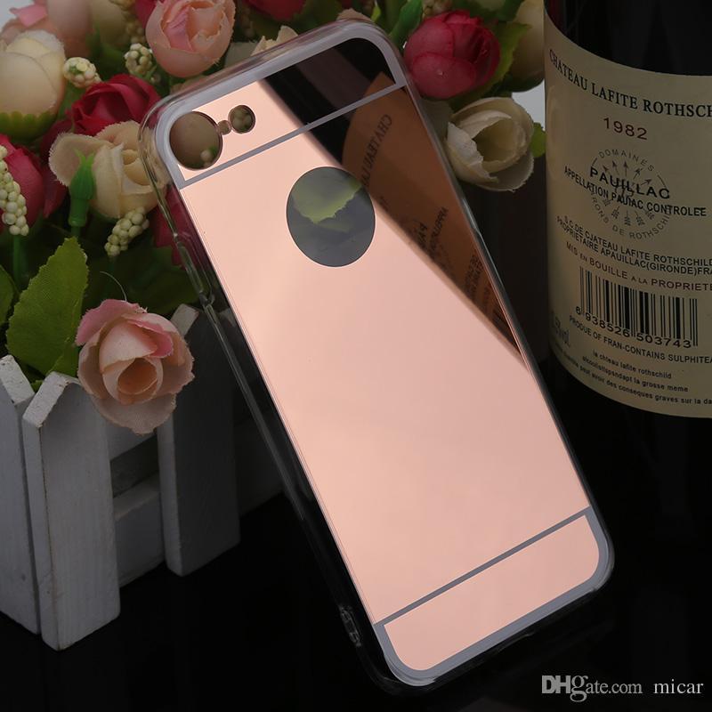 Iphone 7 için X iphone7 iphone7plus 7th Ayna kılıfı Elektro Krom Ultrathin Elektrolizle Yumuşak TPU Telefon Kılıfı Kapak