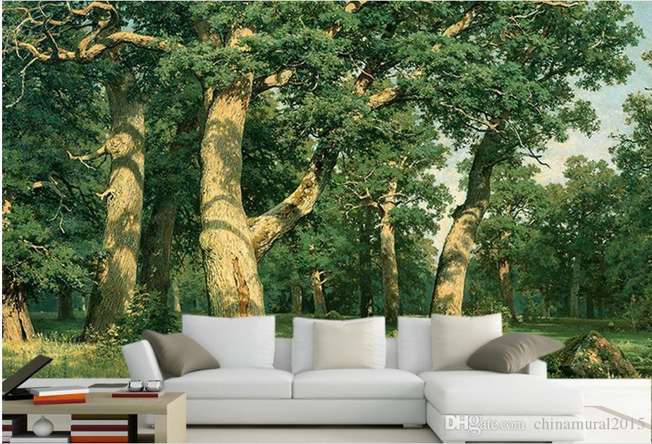 carta da parati decorativa Grande albero TV sfondo 3d carta da parati stereoscopica