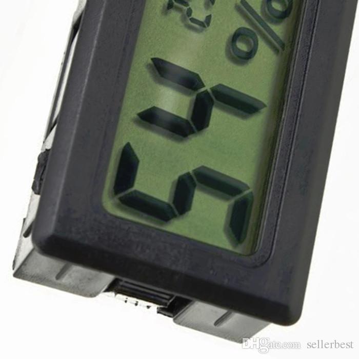 FY-11 Мини ЖК-Цифровой Термометр Гигрометр Холодильник с Морозильной Камерой Измеритель Температуры И Влажности Черный / Белый Оптовая