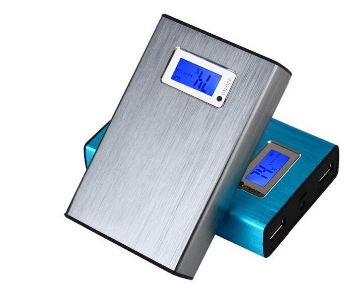 LCD chargeur 20000mah chargeur et batterie 20000mAh double ports de charge banque d'alimentation portable pour tous les téléphones portables table PC MP3