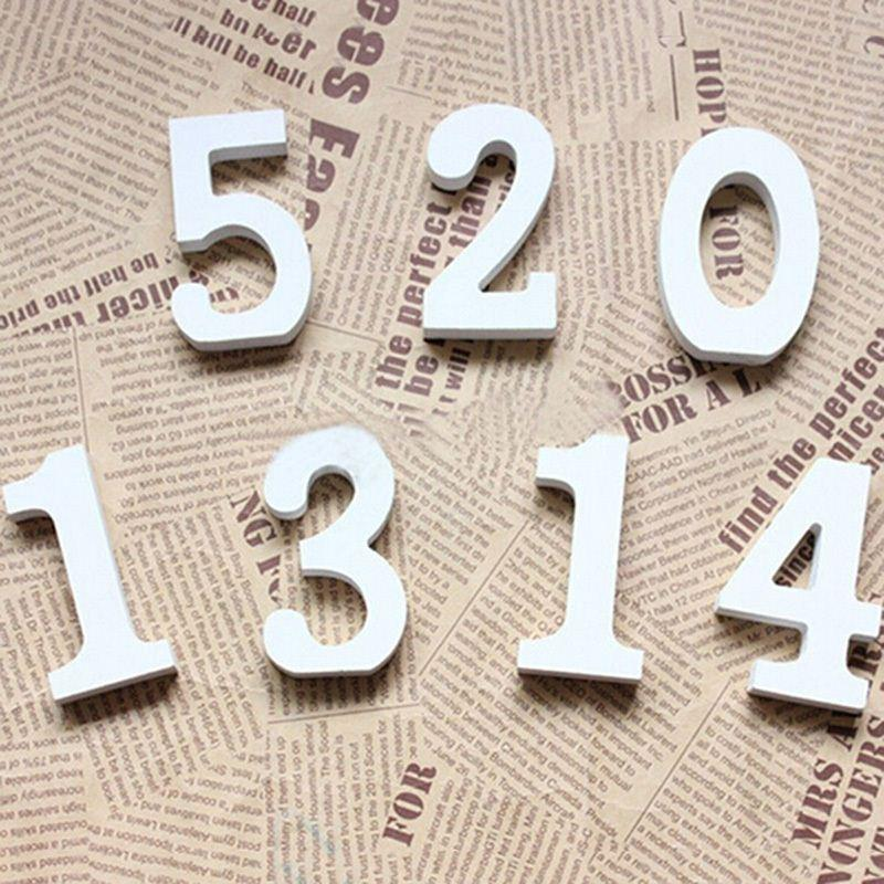 numbers 0 9 white wood wooden letters alphabet wedding birthday decoration party supllies 18 no tracking brown shipping paper kraft paper boxes from