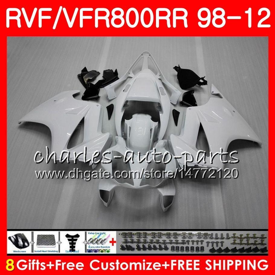 VFR800 Für HONDA weiß schwarz Interceptor VFR800RR 98 99 00 01 02 03 04 12 90NO66 VFR 800 RR 1998 1999 2000 2001 2002 2003 2004 2012 Verkleidung