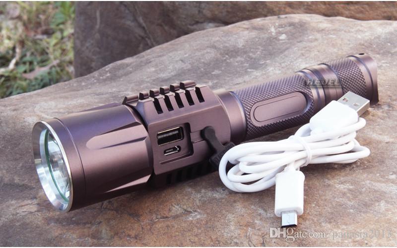 Nouvelle Arrivée Rechargeable USB led lampe de poche Cree XM-L2 Lanterne Haute Puissance Torche 3800 lumen Zoomable Flash lumière lanterne Tactique vélo