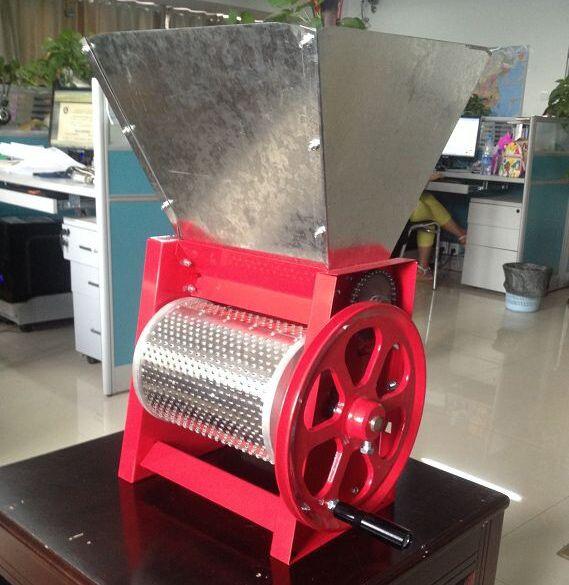 Máquina cortadora de café fresco máquina pulper café manual máquina peladora pequeña de granos de café tamaño pequeño de alta eficiencia