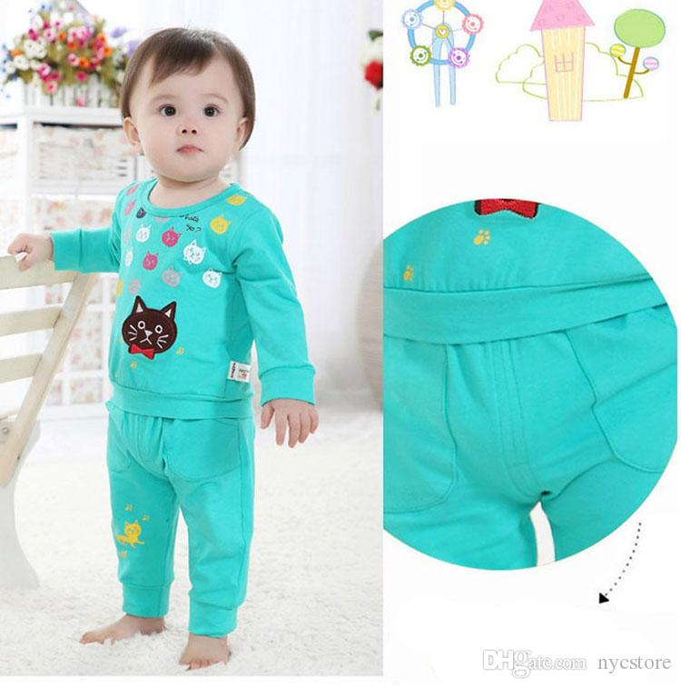 vêtements pour bébés vêtements de bébé plus tard vêtements garçon coton chat mignon manches longues costume bébé filles enfants vêtements