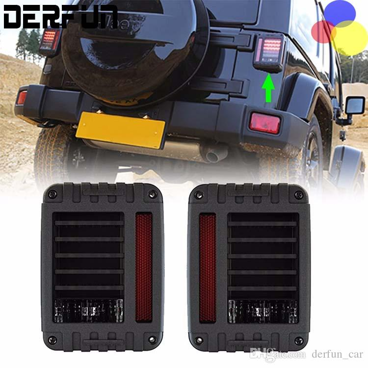 For 07 16 Jeep Wrangler Led Tail Lights Rear
