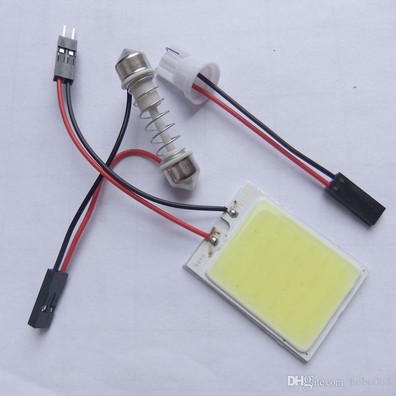 Белый 24COB светодиодные панели света для автомобиля интерьер двери багажника карта купол лампа 12 в DIY