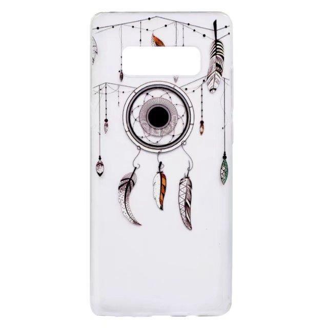 Iphone X Samsung Galaxy S8 PLUS NOTE8 J3 J5 J7 A3 A5 2017 Copertura molle di caso di TPU Cat Henna Mandala Fiore dell'uccello del fumetto Wind Chime pelle della parte posteriore
