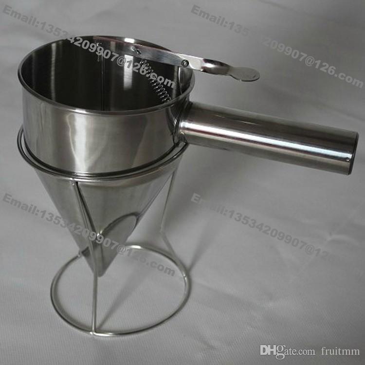 Stainless Steel Commercial Use Waffle Cupcake Mini Dutch Pancake Takoyaki Dorayaki Taiyaki Batter Dispenser