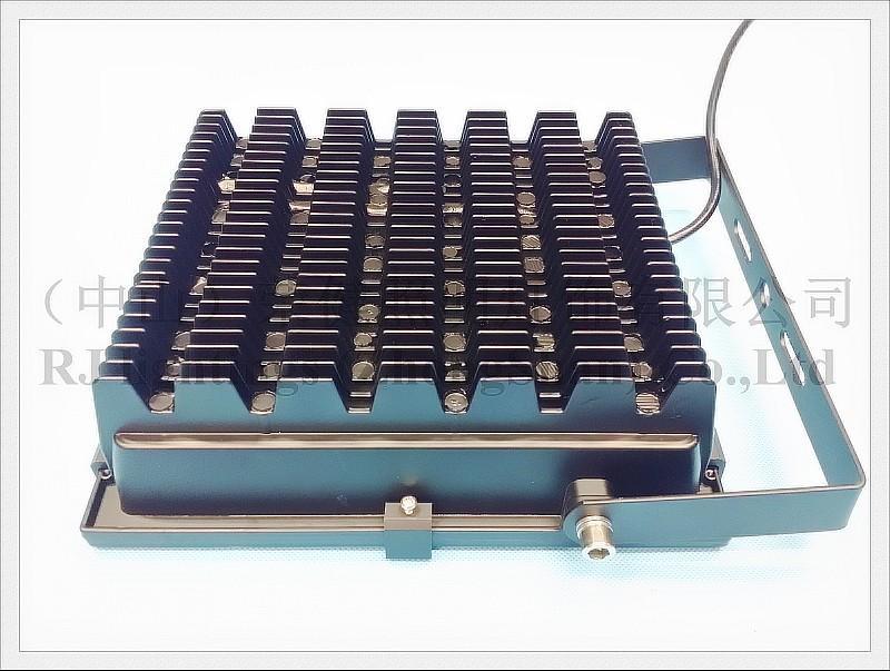 Ny radiator LED Flood Light Floodlight 100W 2 * 50W COB AC85-265V Ingång 10000LM IP65 CE Tuffentligt glas Aluminium Ny design