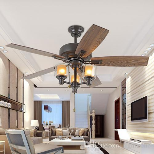 2018 42 inch led ceiling fans 110v 240v wooden fan blade american 2018 42 inch led ceiling fans 110v 240v wooden fan blade american european retro ceiling fans lights for restaurant sitting room from lightzone aloadofball Choice Image