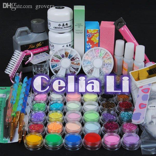 Wholesale Luxuries Acrylic Nail Art Kit Gel Powder Liquid 120ml Nail ...