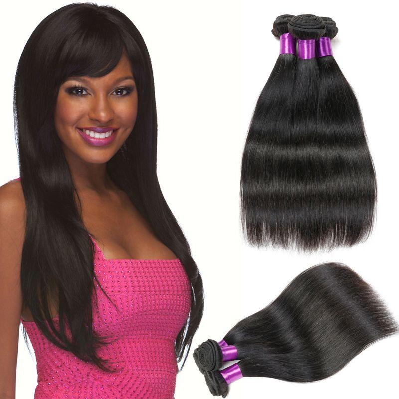 Peruvian Straight Virgin Hair Weave Belleshow Unprocesse Human Hair