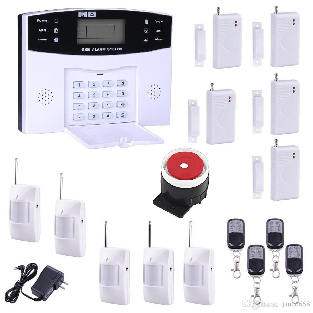 GSM SMS Home Burglar Security Alarm System Detector Sensor Kit Remote Control