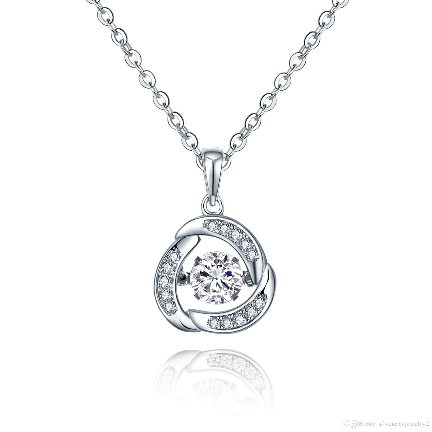 ct crescent diamonds pendant tw white diamond dancing necklace gold product