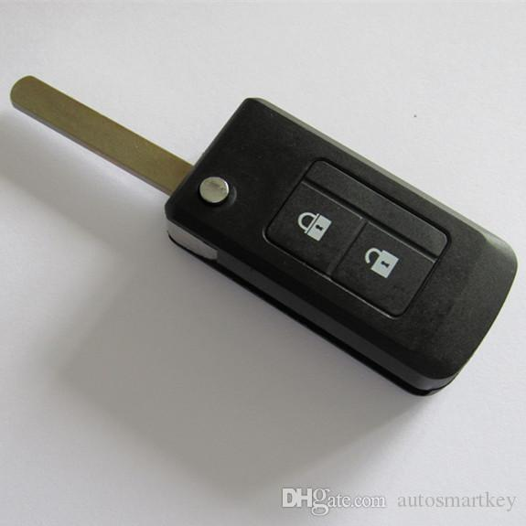 New modified flip folding remote key blank shell for Subaru 2 buttons remote key case