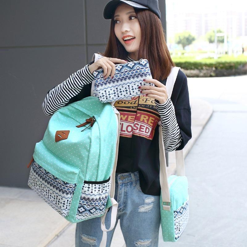 Women Laptop Bags Designer Backpacks Cute Lightweight Canvas Shoulder Bag  Female Student Stripes Style Colorful School Backpack Backpacks For College  ... 270cf0631
