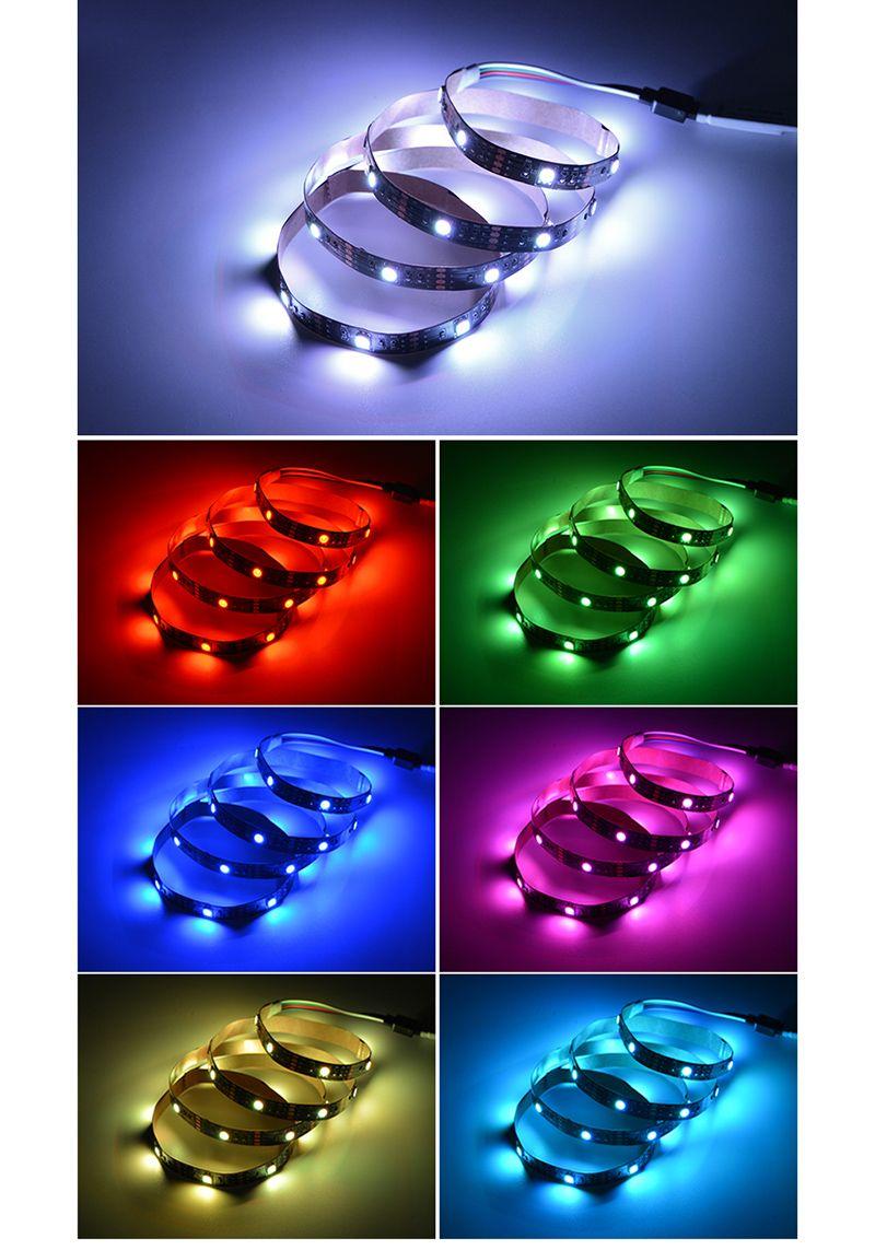 5050 DC 5V RGB LED Strip Waterproof 30LED/M USB LED Light Strips Flexible Neon Tape 1M 2M 3M 4M 5M add Remote For TV Background
