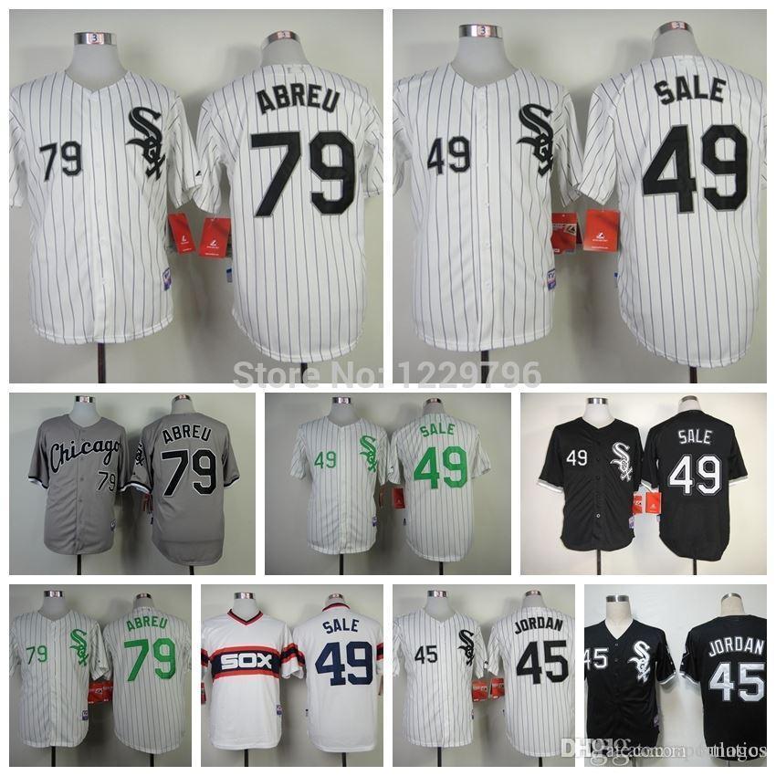 4f8d6890f77 ... Cool Base Jersey Mens Chicago White Sox Baseball Jerseys 79 Jose Abreu  49 Chris Sale 45 Michael Jordan 14 ...