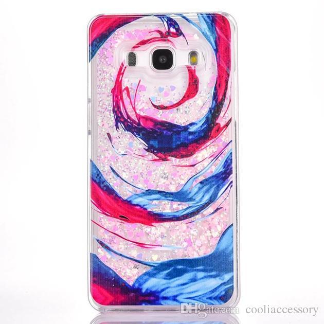 Samsung Galaxy Grand Prime G530 G530H Quicksand Sıvı Sert PC Kasa Karikatür Çiçek Temizle Dinamik Glitter Ayakkabı Ağaç kız Aşk Cilt Kapak