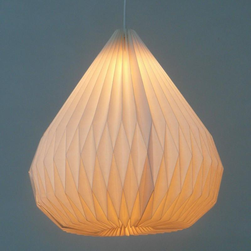 Hanging Origami Modern White Paper Pendant Lamp Diy Handmade Lantern Folding For Bedroom Ball Decoration Glass Shades