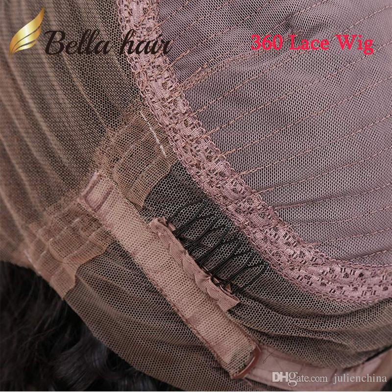 Parrucca piena profonda del merletto dell'onda 360 parrucche vergini brasiliane ricce parrucche 100% parrucca umana del merletto anteriore prese di fabbrica dei capelli di Bella