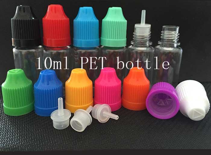1000шт ПЭТ 10мл пластиковые флаконы-капельницы с защитной крышкой от детей с длинным тонким наконечником для жидких игл для капельниц