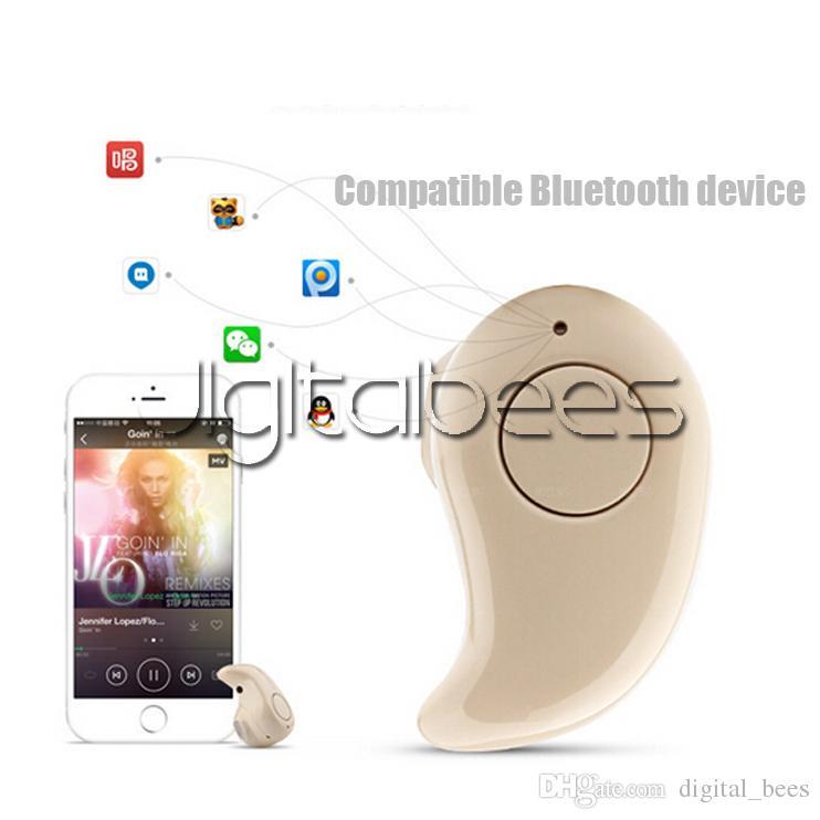 Super Mini auricular Bluetooth S530 para el iphone 7 Auriculares Deportes banda para el cuello Auricular inalámbrico Bluetooth caja al por menor
