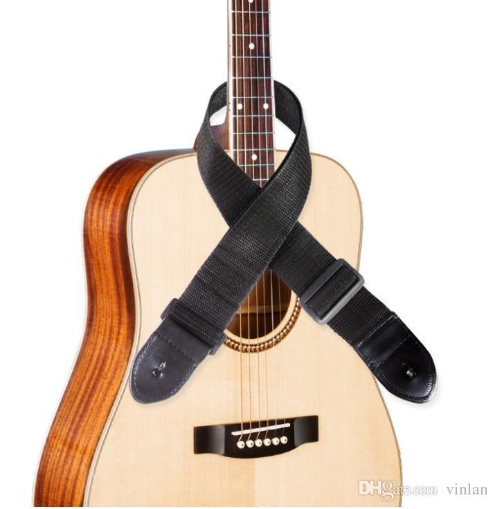 NEW Arrivals black acoustic electric guitar Ukulele bass guitar strap Guitar Parts musical instruments accessories