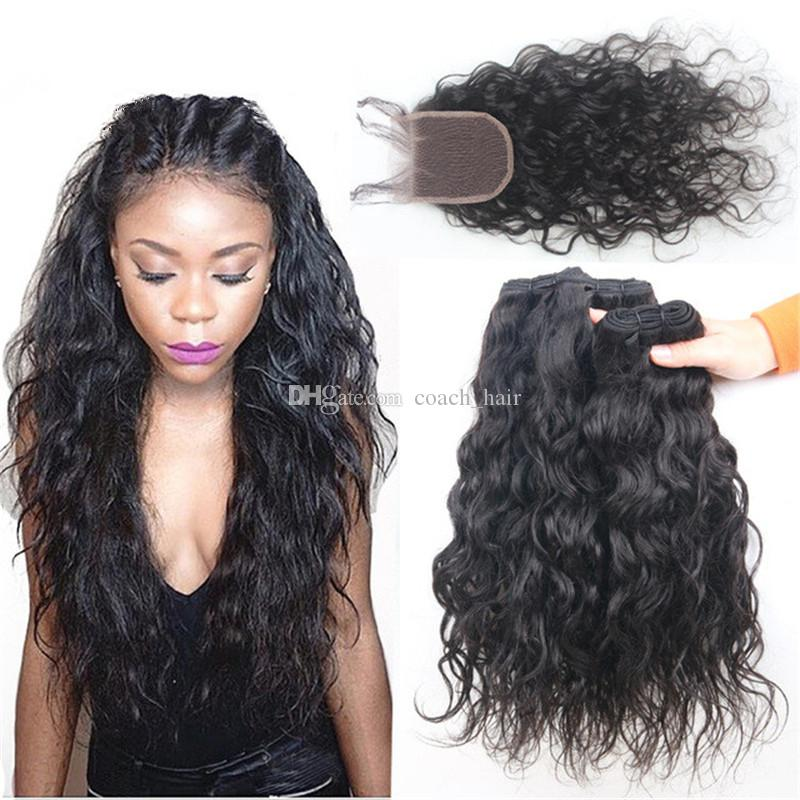 Cheap 8a grade peruvian water wave hair 3 bundles with closure cheap 8a grade peruvian water wave hair 3 bundles with closure human hair wet and wavy weaves with lace closure virgin hair hair extension weave weave in pmusecretfo Images