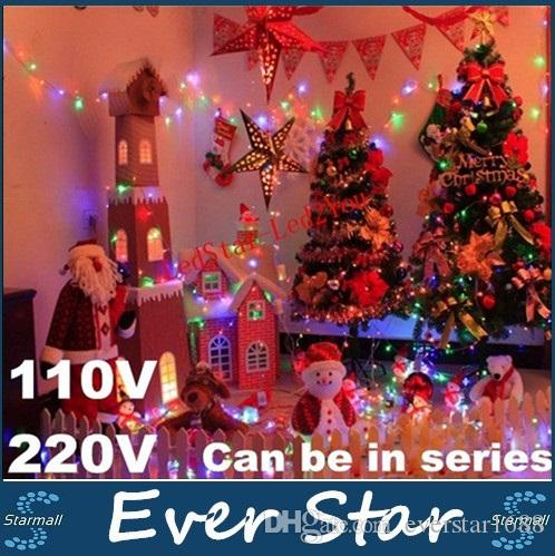 super bright 110v 220v led string christmas lights 10m100leds led fairy garden lighting colorful led lights for partychristmas decoration light string