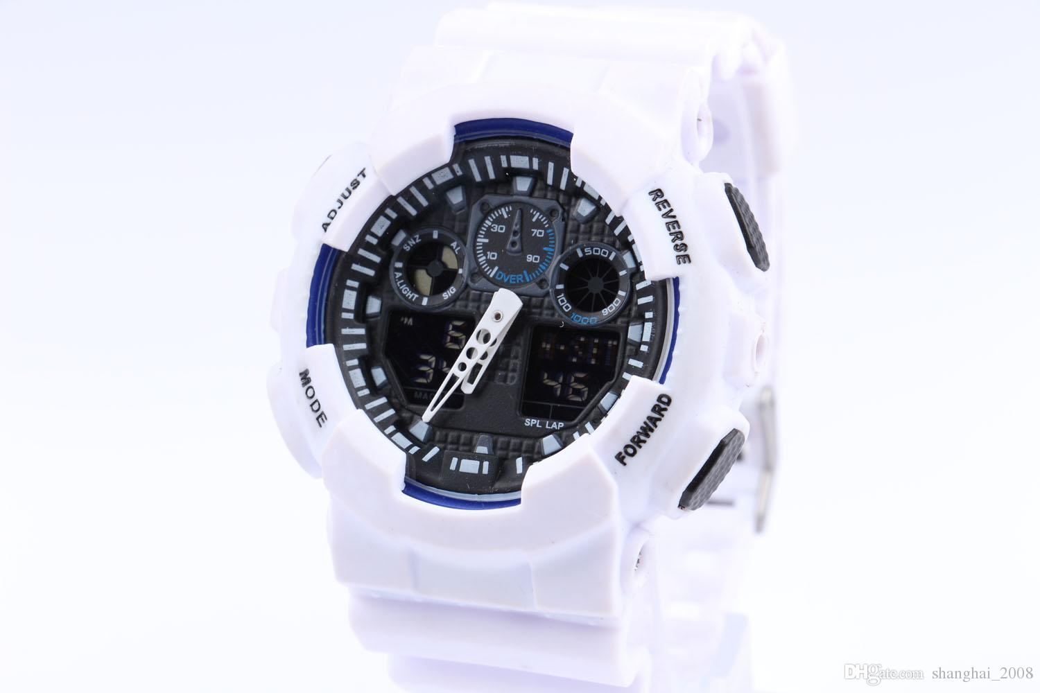 relogio men's sports watches, LED chronograph wristwatch, military watch, digital watch, good gift for men & boy, dropship
