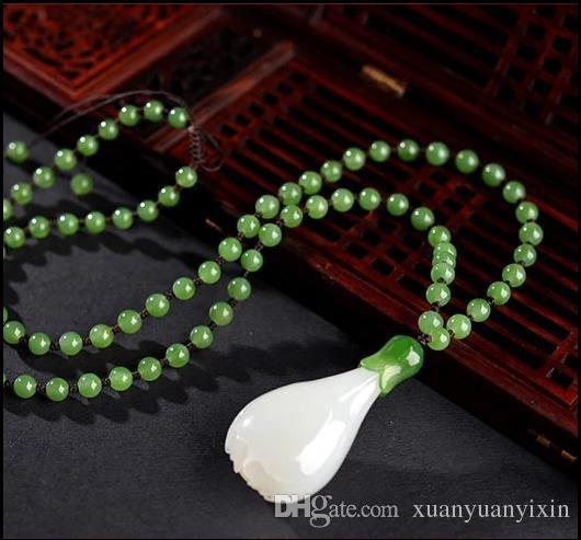 2017 neue und Hetian jade weiße jade orchideen frauen anhänger weiße jade anhänger halskette großhandel