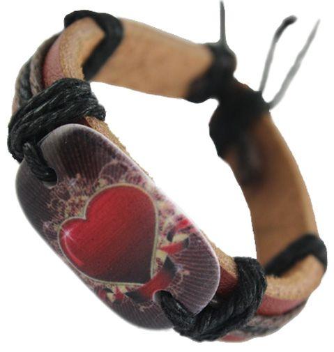 braccialetto nero regolabile in vera pelle marrone nero lotti vogue caldo amore catena cuore uomini donne braccialetto braccialetto fatto a mano DJ095