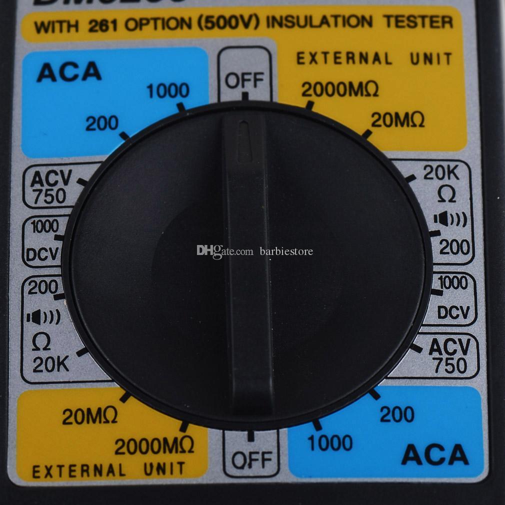 DM6266 цифровой мультиметр зажим метр AmVolt ом метр изоляции тест B00353