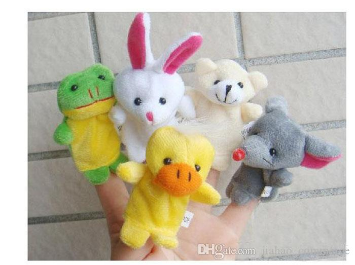 Hot Sale Express Finger Puppets Plush Toy Talking Props 10 Different Animals Set Toys For Baby Children
