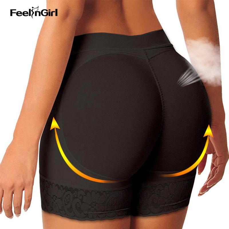 7eac246418616 Wholesale- FeelinGirl Women Butt Lifter Hip Enhancer Panty Body Shaper  Tummy Control Hip Pads Booty Buttock Enhancer Panties G Women Butt Lifter  Butt Lifter ...