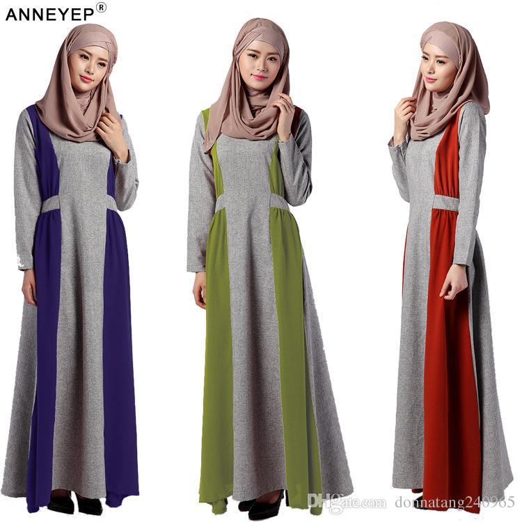 465d413d7 Compre Damas Hijab Abaya Kaftan Vestido Prenda Prenda Islamische Kleidung  Damas Ropa Islámica De Algodón Musulmán Oración Hijab Ropa A  22.94 Del ...