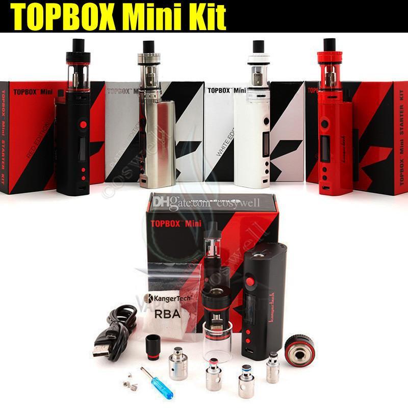 Kanger topbox mini Starter Kit 75w 4ml Kit di controllo temperatura serbatoio di riempimento superiore clone subox nano migliore qualità e sigaretta Mod box scatola vaporizzatore DHL