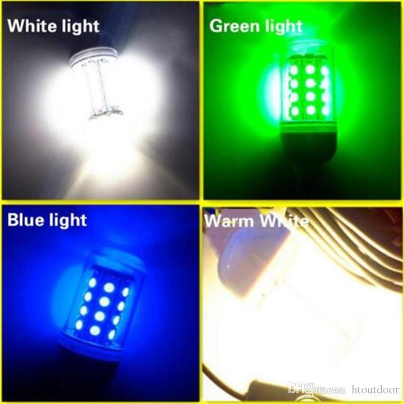 12V 108LEDs verde azul blanco subacuático pesca luz lámpara 15W barco de pesca luz IP68 impermeable LED noche pescado buscador señuelo de la pesca luces