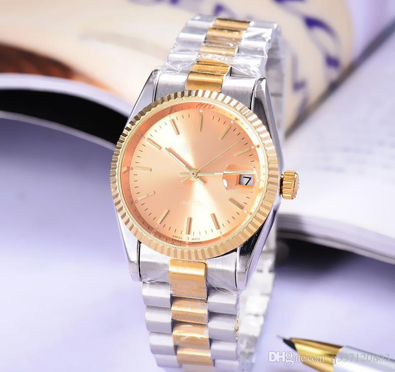 b6c156b31dd Relogio Luxury Brand Gold President Day-Date Diamonds Watch Men Stainless  Mother of Pearl Dial Diamond Bezel Automatic WristWatch Submarine Watches  Men ...