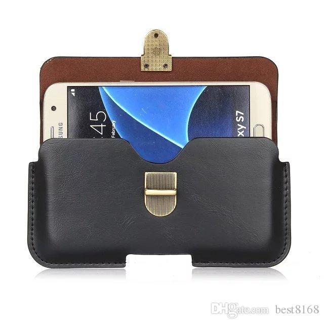 Hip Holster generale Custodia in pelle Iphone X 10 8 7 / Plus / 6 6S SE Galaxy S9 S8 / S7LG K7 K10 K8 Custodia Sony XZ XA X Z5