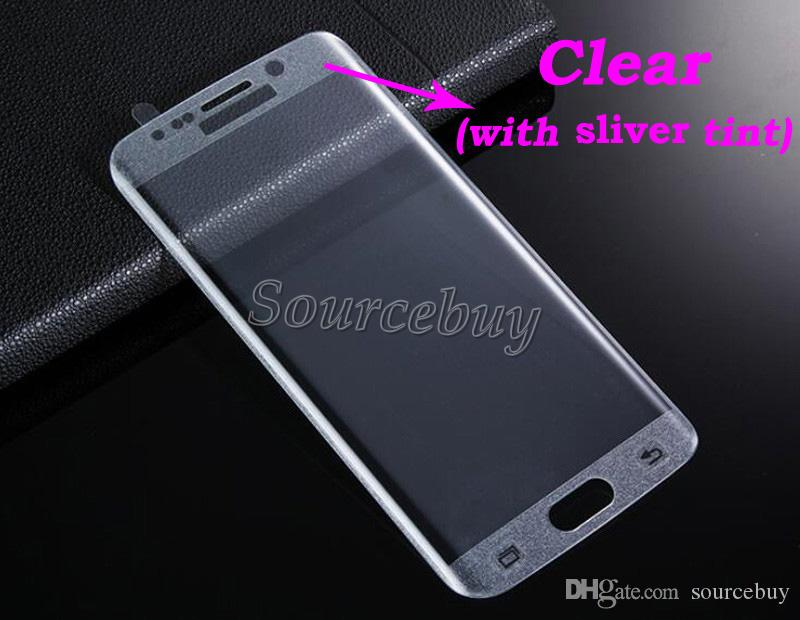 Tempered Glass Film Screen Protector 3D Curved 9H Hardness Anti-Scratch Cell Phone Screen Protectors For Samsung Galaxy S7 Edge S7 DHL free