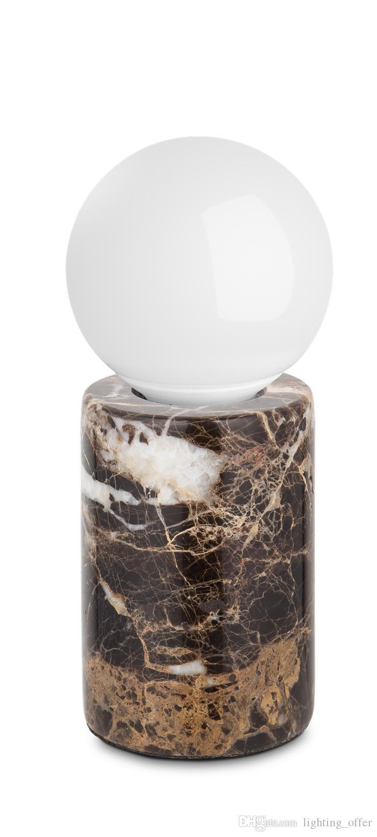 Персонализированная мраморная настольная лампа круговая новая эра креативной лампы E27 LED Lamp