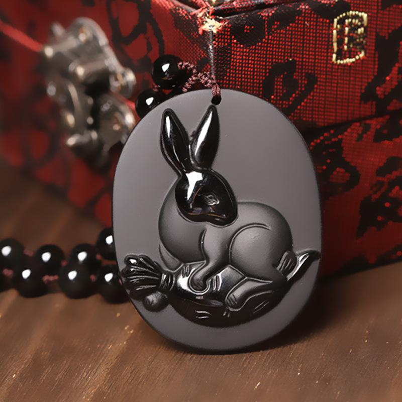 necklace loveness necklaces gold products chinese pendant lee store top rabbit closeup zodiac online