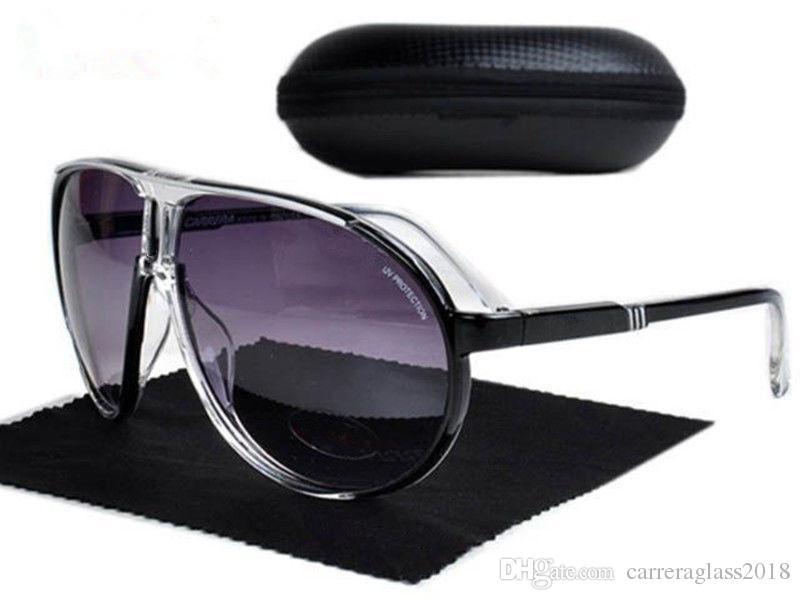 4fc7c38ddc1 New Fashion Men Women Outdoor Sport Sunglasses Unisex Retro Eyeglasses UV  Protection Gradient Designer Luxury Brand SunGlasses With Case Box Designer  ...