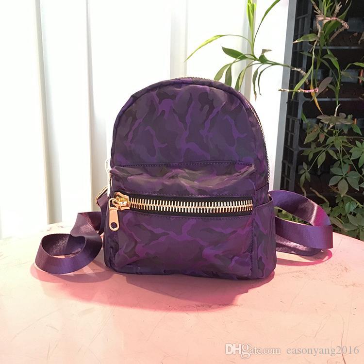 Nueva Moda Clásica Causal Femenina Mochila Impermeable de Alta Calidad School Girl Bag al aire libre Viajar color sólido deporte Mochila