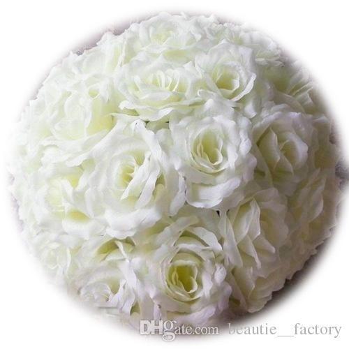 18cm Artificial Silk Rose Pomander Flower Balls Wedding Party Bouquet Home Decoration Ornament Kissing Ball Hop