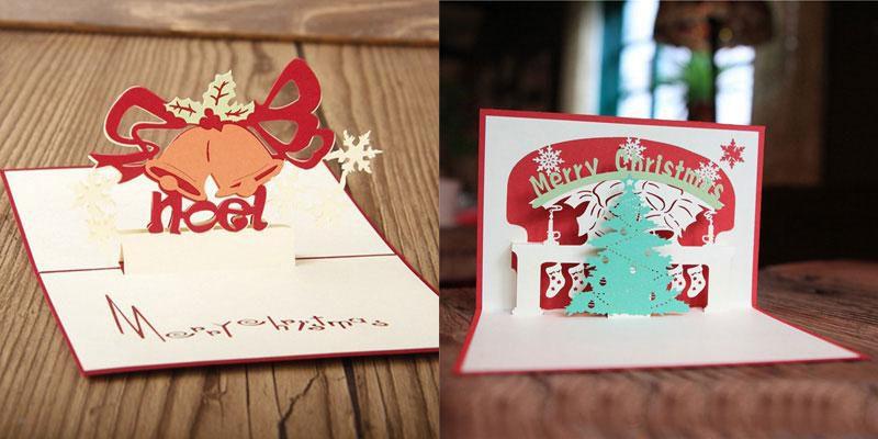 hot sale 3D Pop Up party Card Peacock Design Christmas Postcard New Year Greeting Card Handmade Folding Kirigami